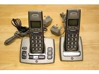 BT Freestyle 750 Twin Single-Line Home Cordless Phones with Answering Machine