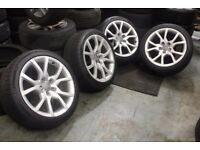 A SELECTION OF AUDI ALLOY WHEELS ALL REMOVED FROM 2012+ CARS 5X112 5X100 A4 A5 A1 S-LINE VW VAG