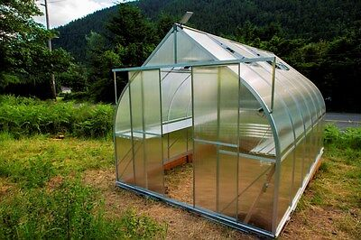 Greenhouse Kit - ClimaPod Virtue Twin 6 mm Polycarbonate  -  Complete Kit ALL IN