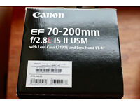 Perfect Canon EF 70-200mm f2.8L IS II USM - 2 months old - used for 1 Wedding -B+W 77 UV-Haze 1x MRC