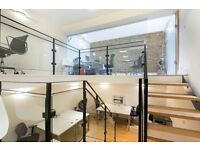 OFFICE SPACE in Shoreditch - EC2A PRIVATE. Secure. Split level Offices. Renovated Textile Warehouse.