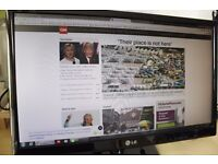 LG 22-inch Widescreen Full HD Monitor TV in Excellent Condition