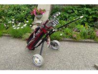 Full set of Golf equipment.