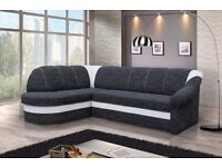 Brand New Modern Corner Sofa Bed Left Right Hand Side Benano With Storage Box and Sleeping Function