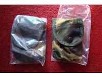 TWO Arktis DPM FFD Webbing / Belt Pouches (new in packets)