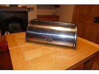 Stainless steel bread bin vintage antique