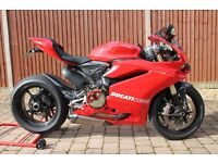 Ducati 1299 ABS Red with Akrapovic Exhausts