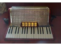 Hohner accordion model Concerto III red,Germany,full playable condition no hidden costs.Case