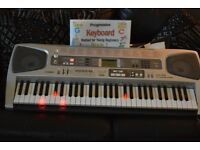 CASIO LK-55 KEYLIGHTS UP TOUCH RESPONSE 61 KEYS IDEAL FOR BEGINNER