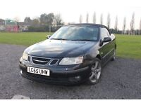 Saab 9-3 Vector 2.0T convertible, 55 plate, 94k miles, FSH, MOT Nov, Superb runner