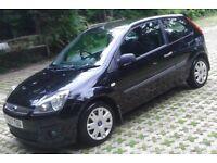 £2299 IDEAL FIRST CAR Black 07 REG Fiesta 1.2 Style Climate 3 Dr, MOT'd, S/History (Facelift Model)