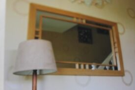 Oak mirror in immaculate condition