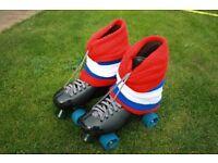 Ventro Pro Quad Roller Hockey Skates Size 9 - 10