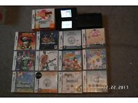 NINTENDO DS LITE VGC AND 13 GAMES AS SEEN IN PICTURES. £25.00