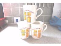 3 Fantastic vintage Maxwell House coffee mugs