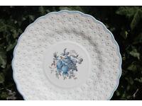 Unusual Vintage Cake / Sandwich Plate Spode Copeland 1940 Retro Raised Flowers Spode