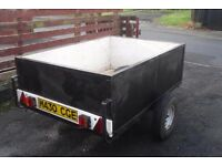 Trailer 6' x 4' x 2' deep steel frame with marine ply sides.
