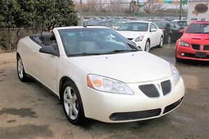 2008 Pontiac G6 GT H/TOP CONVERTIBLE, AUTO, LEATHER, HTD SEATS