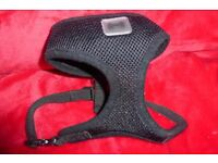 Pets At Home Size Small Black Comfort Mesh Harness, Adjustable Strap, Good Condition, Histon