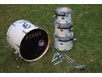 Tama-Starclassic-Birch-White-Onyx-4pc-Drum-Kit