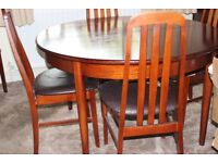 Solid Dining Table and 6 Chairs.