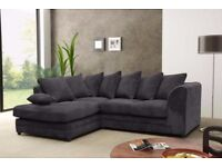 Amazing 5 New Colours Now - Brand New Dylan Jumbo Cord Corner Sofa Set OR 3 and 2 seater sofa