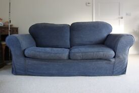 Sofa-bed, blue, Sofa Workshop Direct, removable / washable covers