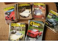 Joblot of Thoroughbred and Classic Cars Magazines 70s - 80s