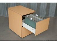 Wooden 2 Drawer Filing Cabinet with 35+ Suspension Files included.