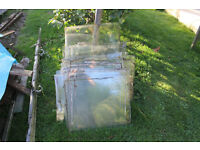 Used Greenhouse glass, Various shapes and sizes buyer collects,
