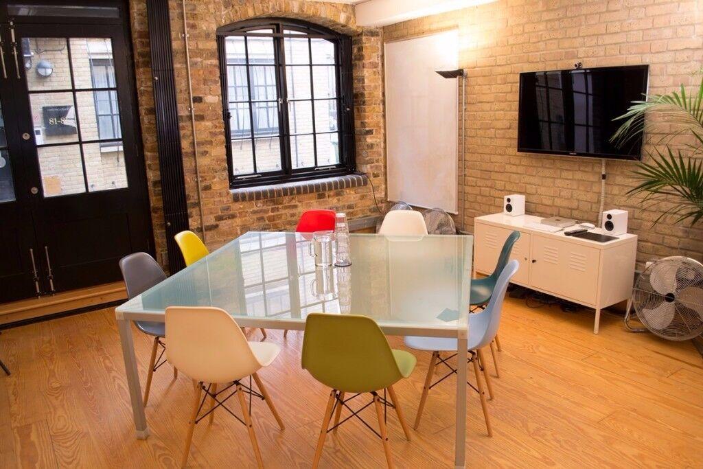 Office meeting room table - Italian glass