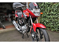 Yamaha YBR 125 Motorbike. Low miles excellent condition 2014