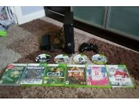 Xbox 360 slim with 10 games