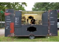 Bespoke Mobile Catering Trailer, New Coffee Machine and Loads of Additionals