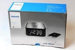 Philips SB170 Bluetooth NFC Speaker w/ Clock FM Radio Dual Alarm with USB Port
