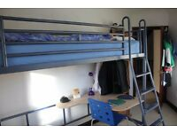JAY-BE HIGH SLEEPER BED. High-mounted single bed, with steps.