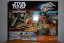 STAR WARS - THE FORCE AWAKENS- MICROMACHINES - MILLENNIUM FALCON PLAYSET-BRAND NEW