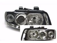 New Pair of Right hand drive UK Xenon headlights A4 8E 2001 - 2006 COMPLETE RHD