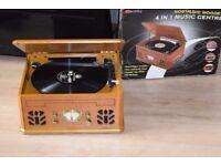 DENTITY RECORD PLAYER/CD/CASSETTE/RADIO/SPEAKERS BUILT IN