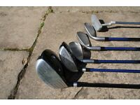 Half set of Junior Masters MC-J520 clubs and Jaxx Driver