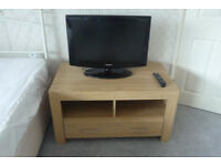 Television Stand in Light Oak Veneer