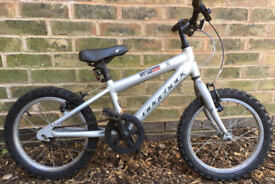 Ridgeback MX16 16 Girls Kids Bike (16 inch Wheel 5 6 7 years old boys) silver
