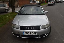 A4 Audi Convertable 2005, 77K miles with FSH, Cam belt changd at 68K miles and MOT till Octobr 2017.
