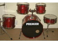 Premier XPK Rosewood Lacquered 5 Piece Drum Kit - Made In England - DRUMS ONLY