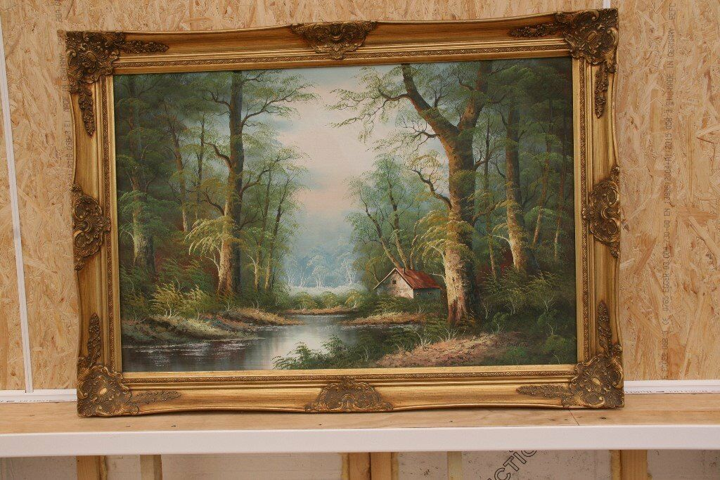 Four Oil Paintings In Rearly Good Frames Measuring X 3 Foot 2 See Photos