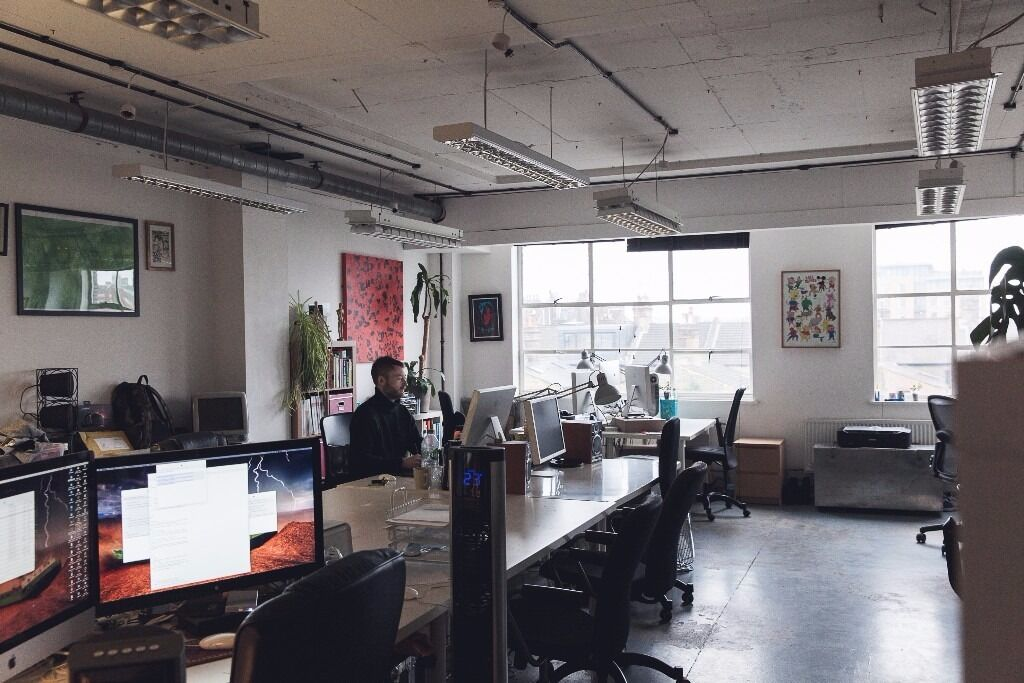 natural light office. studio office 110 natural light netil house shoreditch hackney h