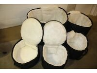 Le Blond Luxury Fur Lined Soft Drum Kit Cases 12in + 13in 16in Toms + 22in Bass + 14in Snare