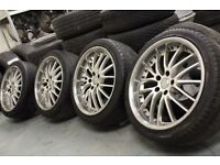 RS Design 18x8J 5x108 deep dish alloy wheels + tyres Volvo Ford Jaguar