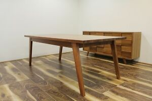 Retro Dining Table - Blackwood Timber and Veneer,  2100mm x 1050mm