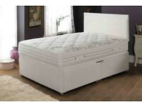 ❋❋ SUPREME QUALITY ❋❋ NEW DOUBLE DIVAN BASE + DEEP QUILT MATTRESS ONLY £89 ❋❋ CASH ON DELIVERY